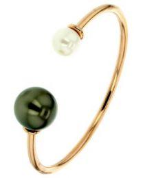 Bracelet Jonc Perle Culture Tahiti&Ed Or750
