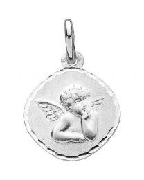 Medaille Ange Losange Or Blanc
