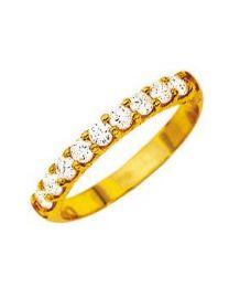 1/2 Alliance  Diamant 0.50 Ct Serti Griffes Hp1