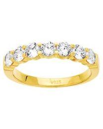 1/2 Alliance  Diamant 1.00 Ct Serti Griffes Hsi