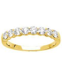 1/2 Alliance  Diamant 0.75 Ct Serti Griffes Hsi