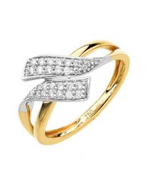Bague Or Jaune Diamants 0,15 Ct