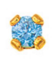 Boucle De Nez Oxyde Bleu Clair Serti Griffes
