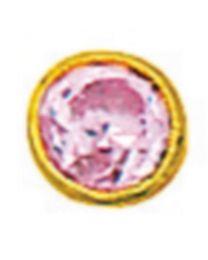 Boucle De Nez Oxyde Rose Serti Clos