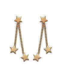 Boucles D'oreilles Plaqué Or étoiles