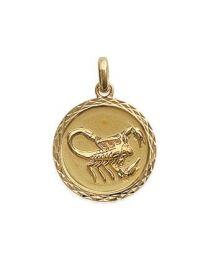 Signe du Zodiaque scorpion Plaqué Or