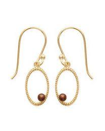 Boucles D'oreilles Plaqué Or Perles Imitation