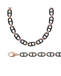 Bracelet / Collier Plaqué Or Rose Céramique