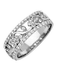 Alliance Diamants Dentel 0,53ct Or Blanc 750 millièmes