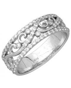Alliance Diamants Dentel 2 0,53ct Or Blanc 750 millièmes