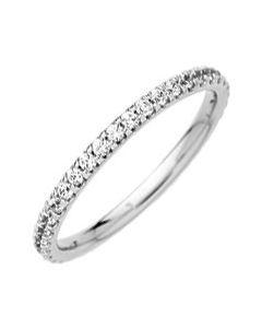 Alliance Diamant Griffes 0,50ct Or Blanc 750 millièmes