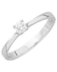 Solitaire Diamant 4grif 0,35 Ct Hp1 Or Blanc 750 millièmes