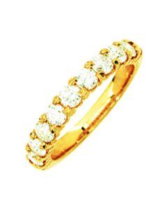 Alliance Diamant demi-tour Grif 1,06ct Hp1 Or Jaune 375 millièmes